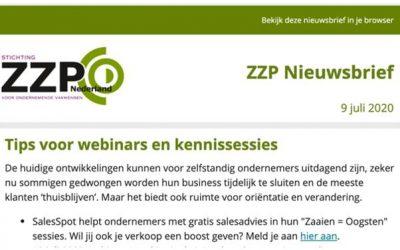 SalesSpot helpt ZZP'ers in Nederland!